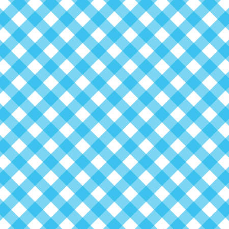 Blue and white gingham background. vector stock illustration