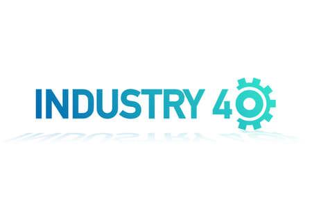 Industry 4.0. Badge, icon, logo vector design. Vector stock illustration.