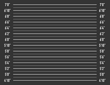 Composition de la police ou arrière-plan mugshot. Illustration vectorielle de stock.