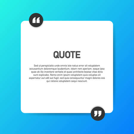 Quote background vector. Creative Modern Material Design Quote template. Vector stock illustration. Illustration