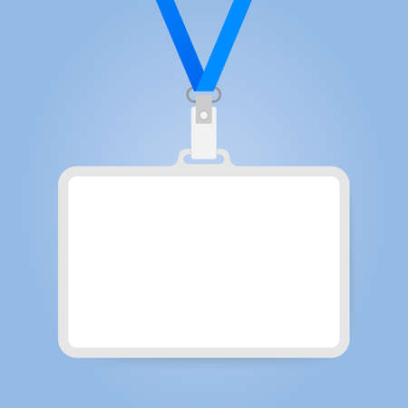Plastic ID Badge with holder for name tag.