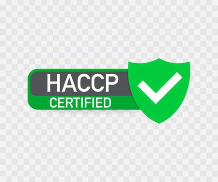 Icona certificata HACCP su sfondo trasparente.