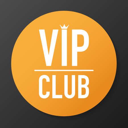 Étiquette de club VIP sur fond noir. Illustration vectorielle de stock.