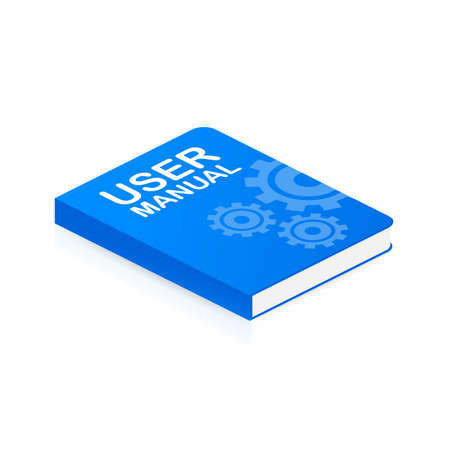 Concept User manual book for web page, banner, social media. Vector stock illustration