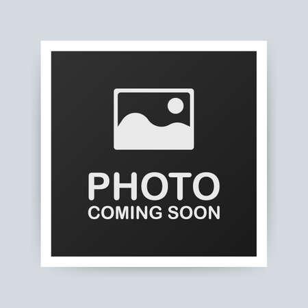 Foto komt eraan. Fotolijst. Vector stock illustratie
