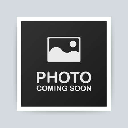 Photo coming soon. Picture frame. Vector stock illustration Archivio Fotografico - 114951853