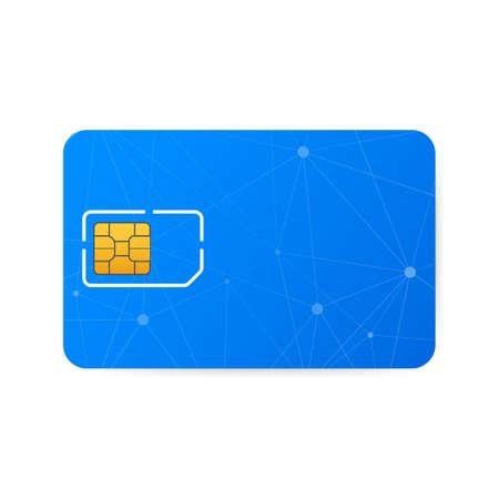 Blank sim card. Vector stock illustration.