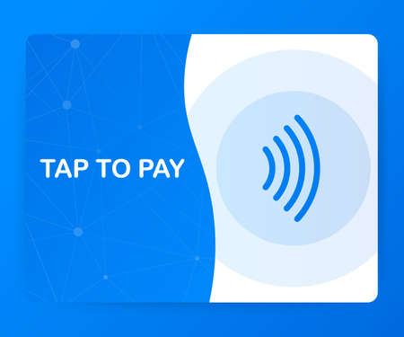 Tap to pay concept - vector sign. Contactless payment icon. Vector stock illustration. Ilustração Vetorial