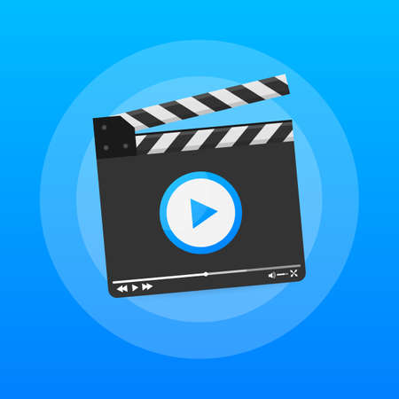 Content production, development, article writing, video. Video production. Vector stock illustration. Ilustración de vector