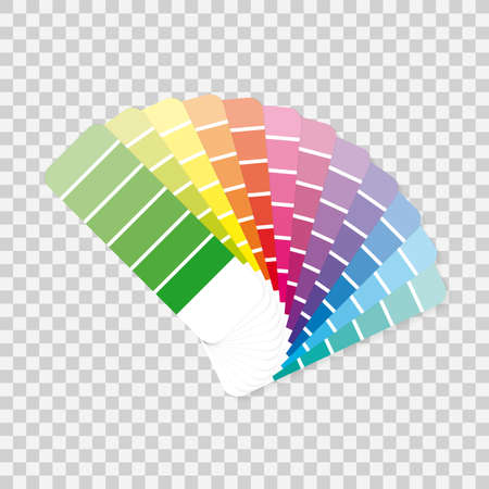 Color palette guide on grey background.  Vector stock illustration. Ilustrace