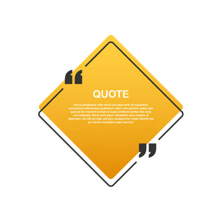 Quote background . Creative Modern Material Design Quote template. Vector stock illustration.