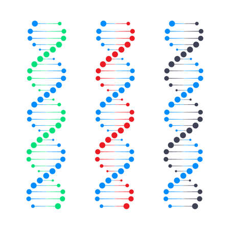 DNA strand symbol. DNA genetics. Vector stock illustration.