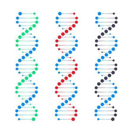 Símbolo de la cadena de ADN. Genética del ADN. Ilustración de stock vectorial.