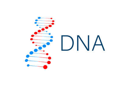 DNA strand symbol. DNA genetics. Vector stock illustration.