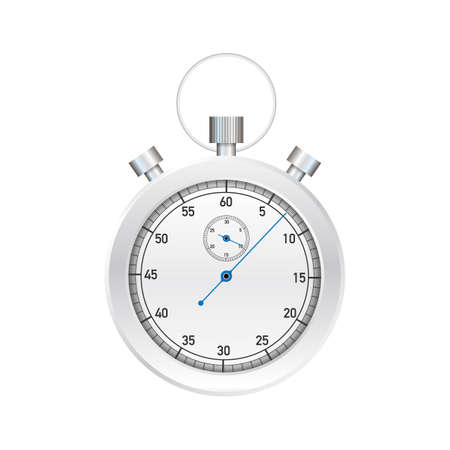 Stop watch. Old mechanical stopwatch. Vector stock illustration.