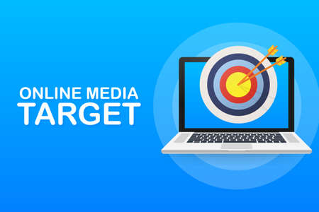 Online media, target audience, digital marketing. Vector stock illustration.