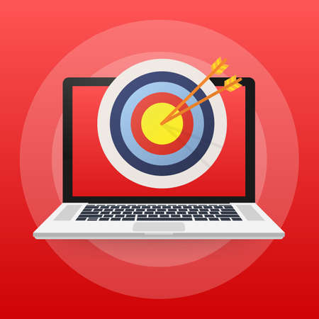 Online media, target audience, digital marketing. Vector stock illustration.