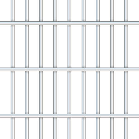 Prison bars isolated on transparent. Way out to freedom concept. Vector stock illustration.
