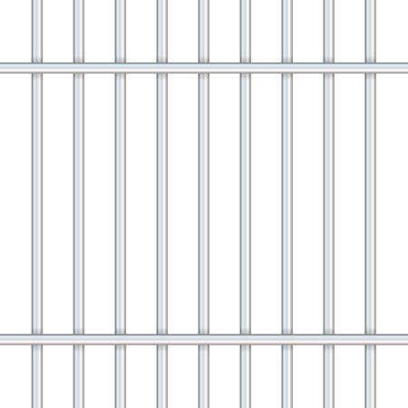 Prison bars isolated on transparent. Way out to freedom concept. Vector stock illustration. Standard-Bild - 121024742