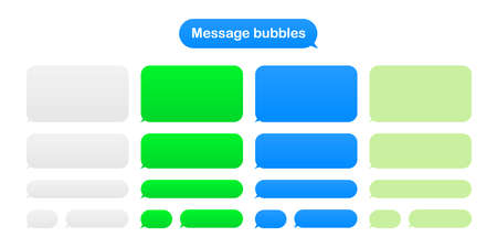 Message bubbles design template for messenger chat. Vector illustration.