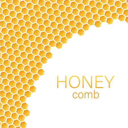 Honeycomb monochrome honey pattern. Vector illustration