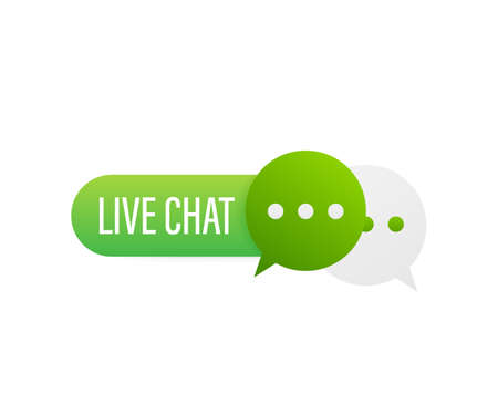live chat speech bubbles concept. Vector illustration. Ilustrace