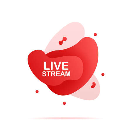 Abstract liquid shape with gradient. live stream. Vector illustration. 向量圖像
