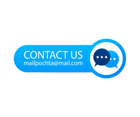 Contact Us Mail Label on backgraund. Vector illustration. 向量圖像