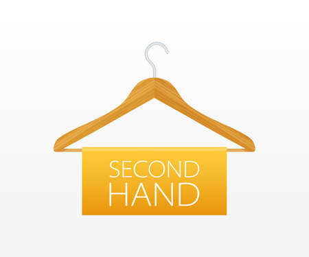 Second hand shop. Template for logo. Vector illustration
