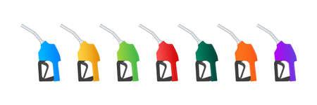 Fueling gasoline or diesel vector web banner. Filling stations network, petroleum. Vector illustration. Illustration