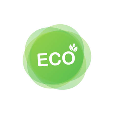 Eco icon, label. Organic tags. Natural product element Vector illustration