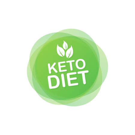 Ketogenic diet logo sign. Keto diet. Vector illustration