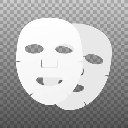Facial mask flat icon. Medicine, cosmetology and health care. 向量圖像