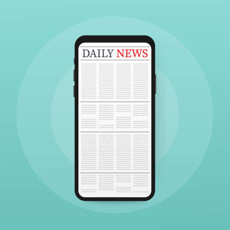Vector mockup of a blank daily newspaper. Fully editable whole newspaper in clipping mask.