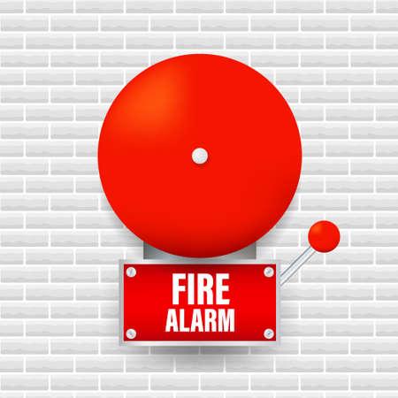 Fire alarm system. Fire equipment. Vector illustration 向量圖像