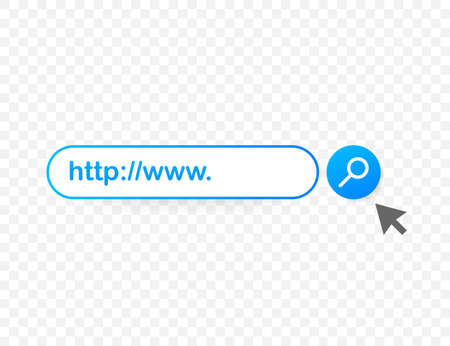 Set Search bar vector element design, set of search boxes ui template isolated on blue background. Vector illustration.
