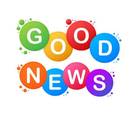 Good news. Word vector banner. Vector illustration.