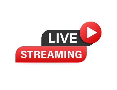 Live streaming news and TV or online broadcasting. Vector illustration Illustration
