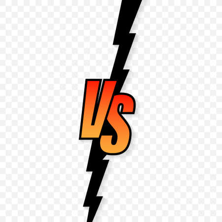Versus logo vs letters for sports and fight competition. Vector illustration.