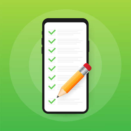 Clipboard with checklist icon. Clipboard with checklist icon for web. Vector stock illustration.