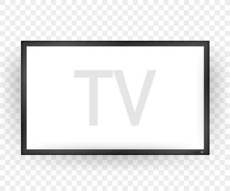 TV, modern blank screen. Lcd tv screen. Vector stock illustration.