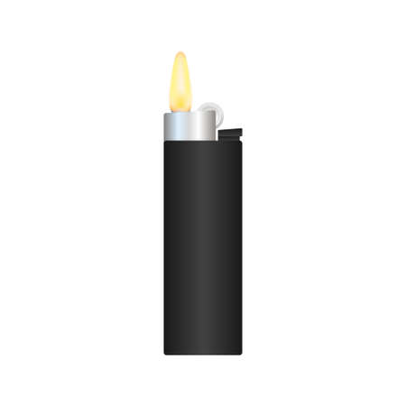 Realistic Template Blank White Lighter Empty Mock Up. Vector stock illustration.  イラスト・ベクター素材