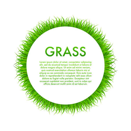 Circle With Grass, Frame. Vector stock Illustration. 일러스트