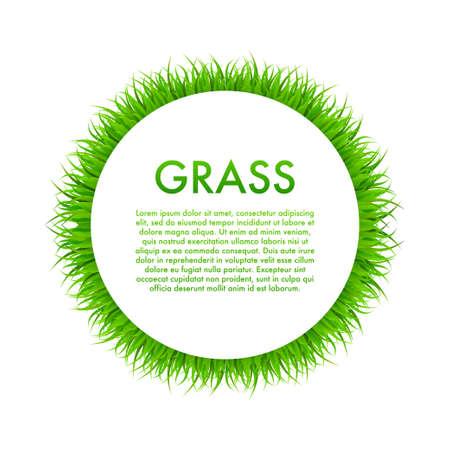 Circle With Grass, Frame. Vector stock Illustration. Ilustracja