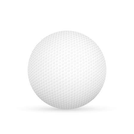 Golf ball isolated on white Vector illustration. Illustration