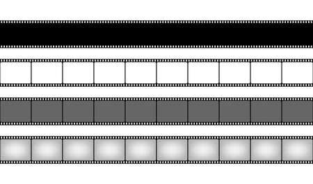 Film strip collection. Cinema frame. Vector stock illustration