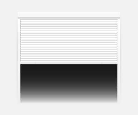 Vector Door with Rolling Shutters on white background. Vector stock illustration
