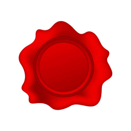 Wax seal isolated on white background. Vector stock illustration Ilustrace