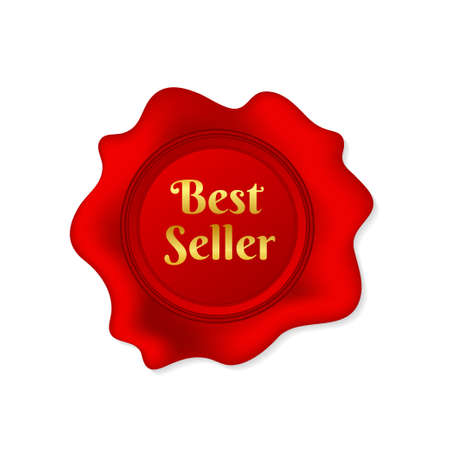 Wax seal Best seller on white background. Vector stock illustration Ilustrace