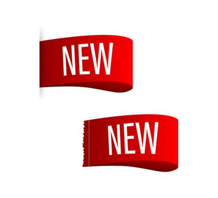 Set New label on white background. Vector stock illustration
